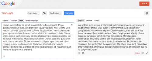 Текст-заполнитель вПеревод[чик]е Google