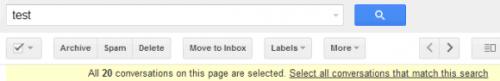 Число результатов поиска вGmail