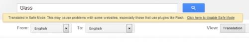 Безопасный режим вПереводчике Google
