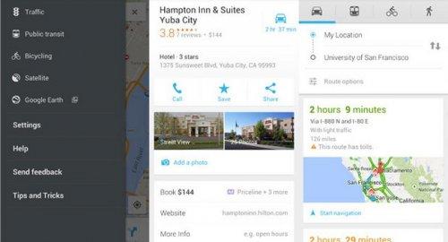 Google обновила приложение Maps для Android-устройств