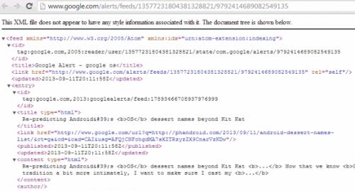 ВGoogle Alerts вернули поддержку потоков