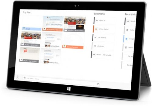 Firefox для Windows 8 поддерживает сенсорный ввод и жесты