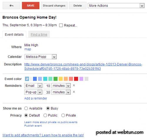 Добавляем события в Google-Календарь при помощи расширения для Chrome