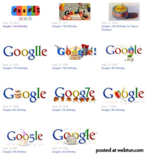 Сюрприз (Easter Egg) к 15-летию Google