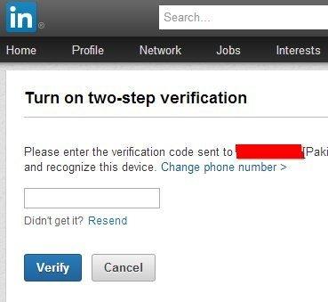 Как включить двухэтапную авторизацию на LinkedIn