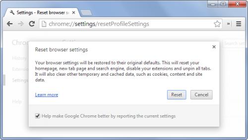 Как восстановить в вашем браузере настройки по умолчанию