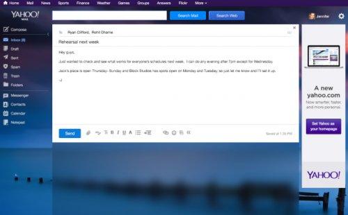 Yahoo! серьезно обновила свою почтовую службу