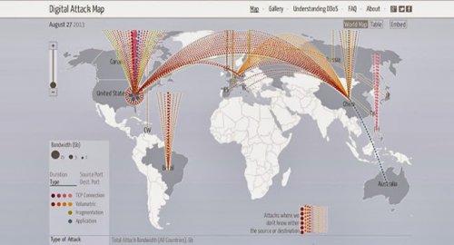 Google запустила интерактивную карту кибер-атак