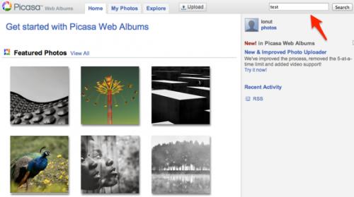 Поиска поВеб-альбомам Picasa больше нет, остался только Google+