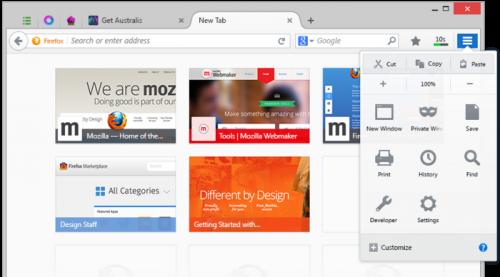 ����� Firefox 25