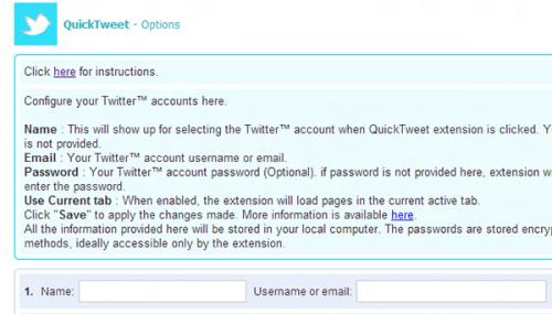 ��� �������� ������ � ���������� ��������� Twitter ����� �������� ������ � Google Chrome