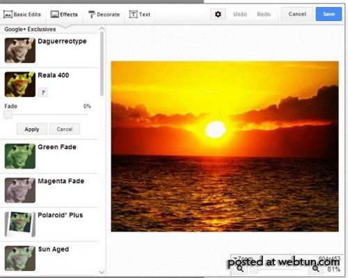 Как редактировать фотографии в Google Plus
