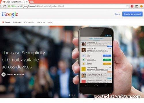 Базовая страница Gmail