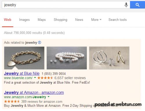 Google тестирует иллюстрированную рекламу верхних результатов поиска
