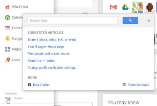 Встроенный показ Справки Google