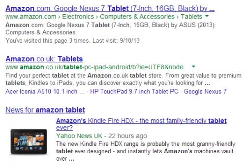 Новый эксперимент вПоиске Google: скрытие веб-адресов