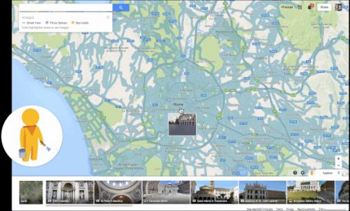 Человек-прищепка на новых Картах Google
