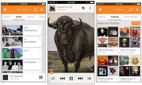Вышло приложение Google Google Play Music для iOS