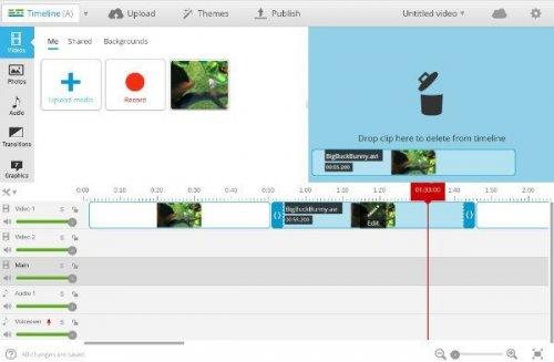 Редактируем видео через браузер с помощью WeVideo