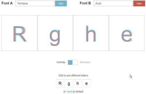 Tiff - сравнение шрифтов онлайн