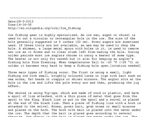 Как сохранить выделенную информацию в текстовый файл через Firefox