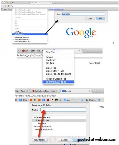 ���������� � �������������� ����� ������� � Chrome ����� Quick Trick