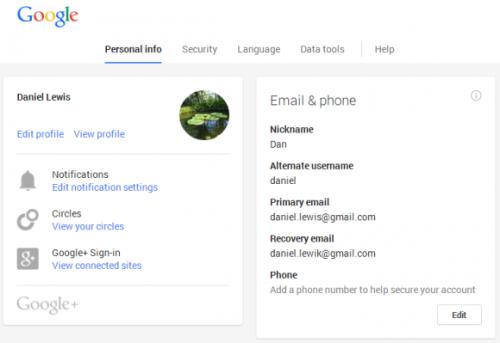 Обновление интерфейса общих настроек Google