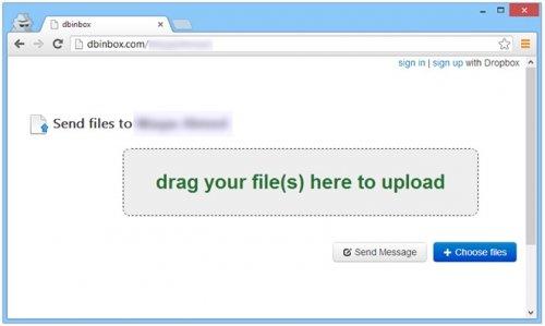 Использование Dropbox как Inbox для получения файлов от своих друзей