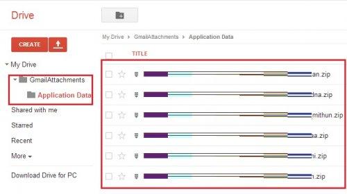 Автоматическое сохранение всех ваших приложений к Google почте на аккаунте Google drive