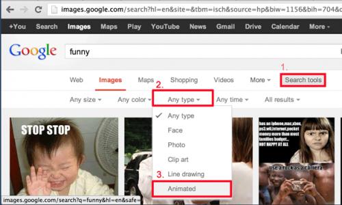 Находите Анимационные файлы GIF с помощью Google