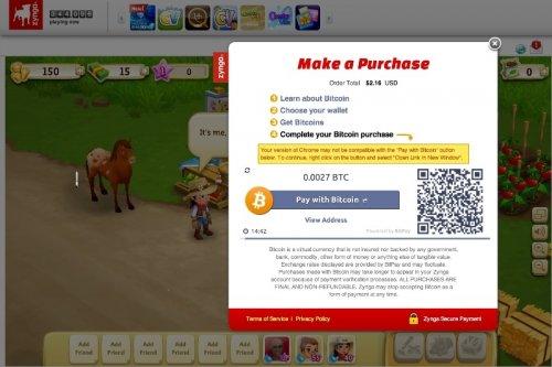 Zynga представила возможность оплаты своих онлайн игр валютой Bitcoin