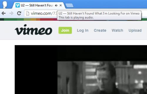 В браузере Chrome отмечаются звучащие вкладки
