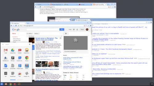 Режим Metro в браузере Chrome