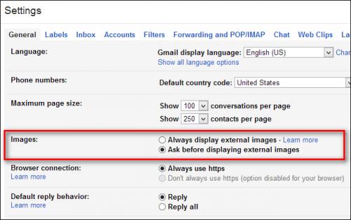Как отключить автоматическую загрузку изображения для Gmail с целью повышения конфиденциальности и ускорения загрузки