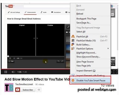 «Умная» пауза позволит автоматически останавливать видео  YouTube  в Firefox