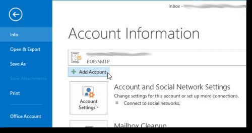 Как добавить акаунт Gmail в Outlook 2013 с использованием IMAP