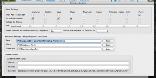 QuickJava: ��������� Flash � Silverlight � �������� ������ Firefox