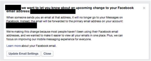Facebook закрыл почту