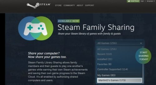 ������ Steam Family Sharing ������� � �������� �����