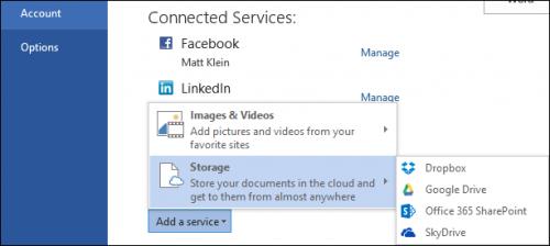 Как добавить Dropbox и другие облачные сервисы в Office 2013