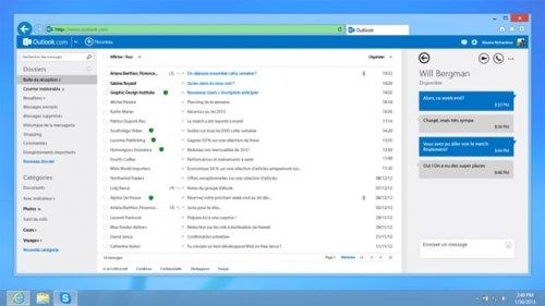 Почтовая служба Outlook обзавелась встроенным клиентом Skype