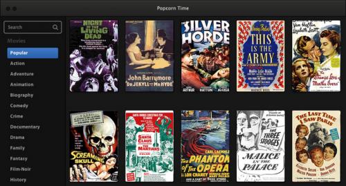 Popcorn Time, система для потокового просмотра видео через BitTorrent