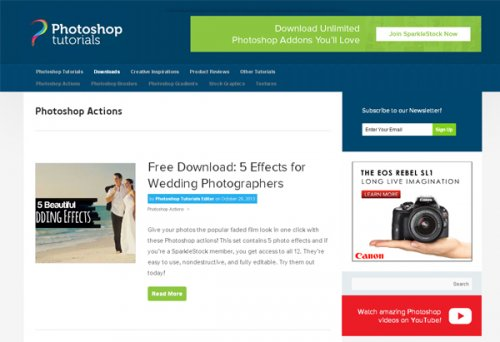 10 ������ � ��������� Photoshop actions
