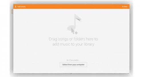 В Google Play Music теперь можно загружать музыку, перетаскивая файлы мышкой