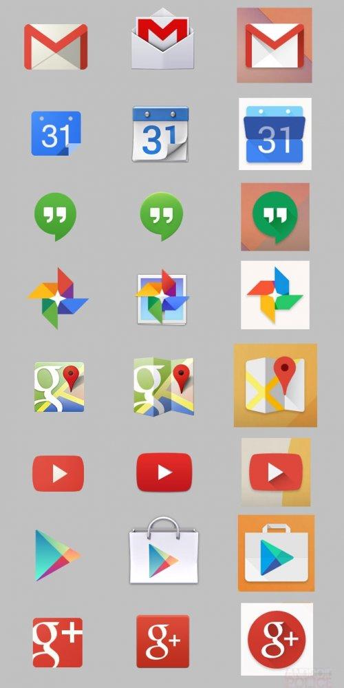 Google собирается переработать дизайн иконок своих приложений в Android