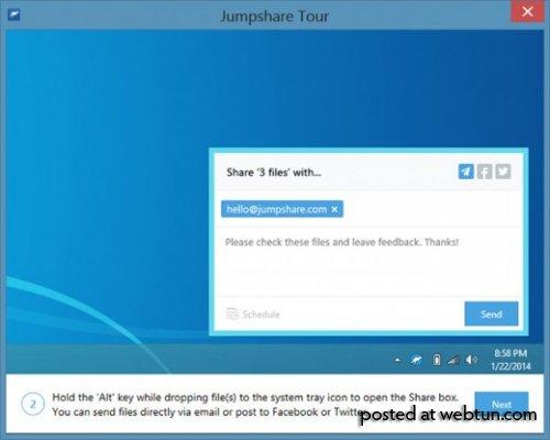 Jumpshare — шаринг файлов и скриншотов в один клик