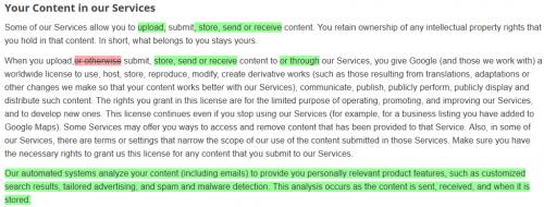 Google наделил себя правом сканировать письма пользователей