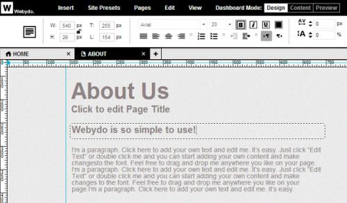 Webydo: бесплатное создание неограниченного количества сайтов