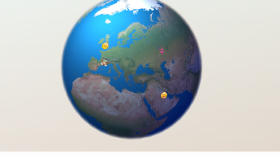 Программист создал карту с трансляцией смайлов Emoji из Twitter