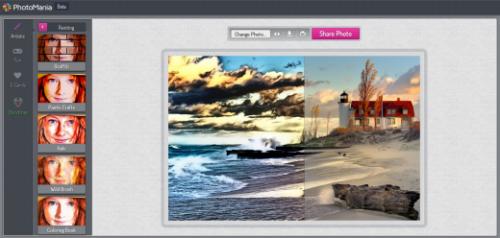 PhotoMania — онлайновый генератор красивых эффектов для ваших фотографий
